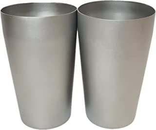 BIVOUAC 2Pcs Packed 500ml Double Wall Titanium Mug Titanium Coffee Cup Outdoor Mug Camping To Go Drinkare (Double Wall 500...