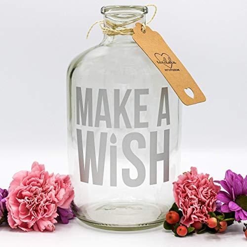 Spardose   Wunscherfüller   Make a Wish   Silber   Geldgeschenk   Sparflasche   Sparbüchse   das ideale Geschenk