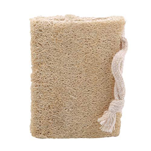 LJSLYJ Natürlicher Luffa-Schwamm Badeschwamm Peeling-Dusche Luffa-Körperwäscher Natürlicher Bade-Duschschwamm, Primärfarbe Abflachen, Größe 1