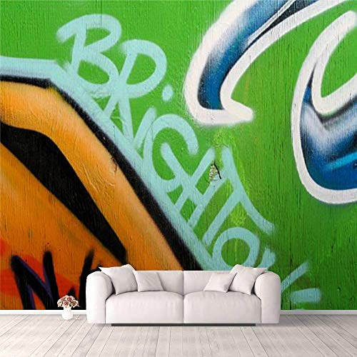 3D Wallpaper Cool Brighton Creative Doodle Art Stock Pictures, Royalty Free Self Adhesive Bedroom Living Room Dormitory Decor Wall Mural Stick and Peel Background Wall Ceiling Wardrobe Sticker (The Best Furniture Shop New Brighton)