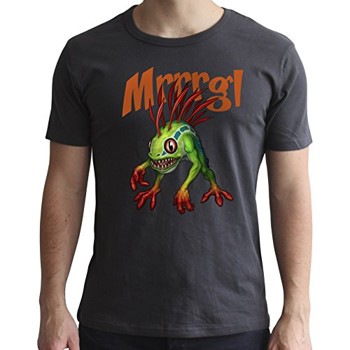 ABYstyle World of Warcraft-Camiseta Murloc-Hombre SS Gris Oscuro-Nuevo Ajuste, Color Multicolor, Extra-Large (Abysse Corp_ABYTEX49035)