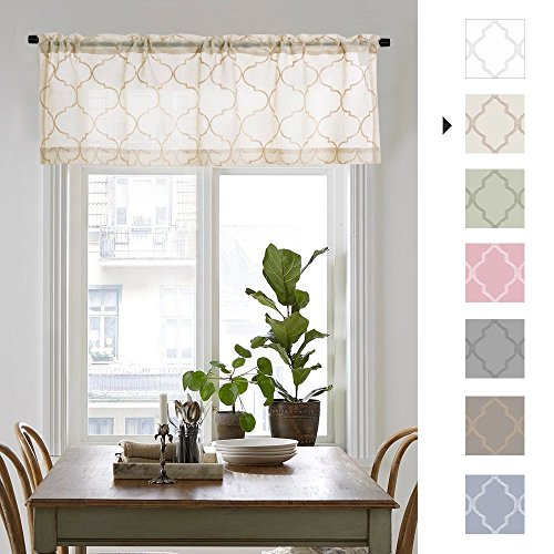 jinchan Sheer Valance for Living Room/Bedroom Voile Curtain 55
