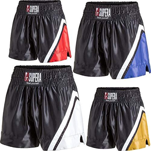Supera Muay Thai Short Performance. Thaiboxhose für Training und Wettkampf. Kickboxhose mit elastischem Bund und weitem Schnitt. Perfekte Passform für MMA, BJJ, Kickboxen, Thaiboxen und Grappling!
