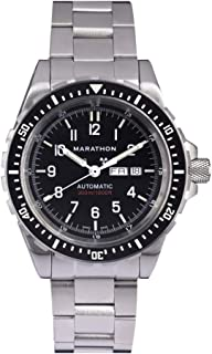 Marathon WW194021 JDD Swiss Made Military Issue Diver's Automatic with Day & Date, Tritium (46mm) - Available with Rubber Strap/Stainless Steel Bracelet