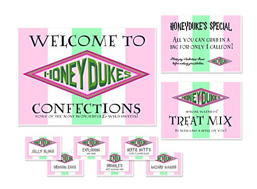 Coco & Bo Honeydukes Sweetshop Party Pack - Standard - Von Harry Potter inspirierte Dekorationen