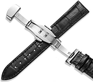 Z09 Genuine Watch Bands Leather Watchbands 12-24mm Universal Butterfly Buckle Band Steel Strap Wrist Belt Bracelet + Desallusa-WatchBand-BBTOOIS5812 Tool