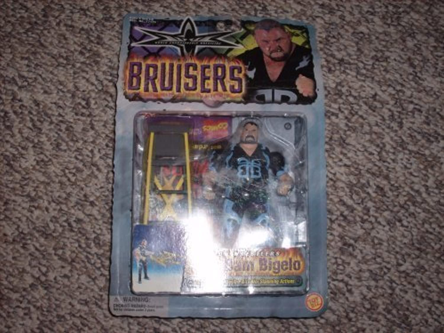 WCW Bruisers Bam Bam Bigelo Action Figure by Toy Biz