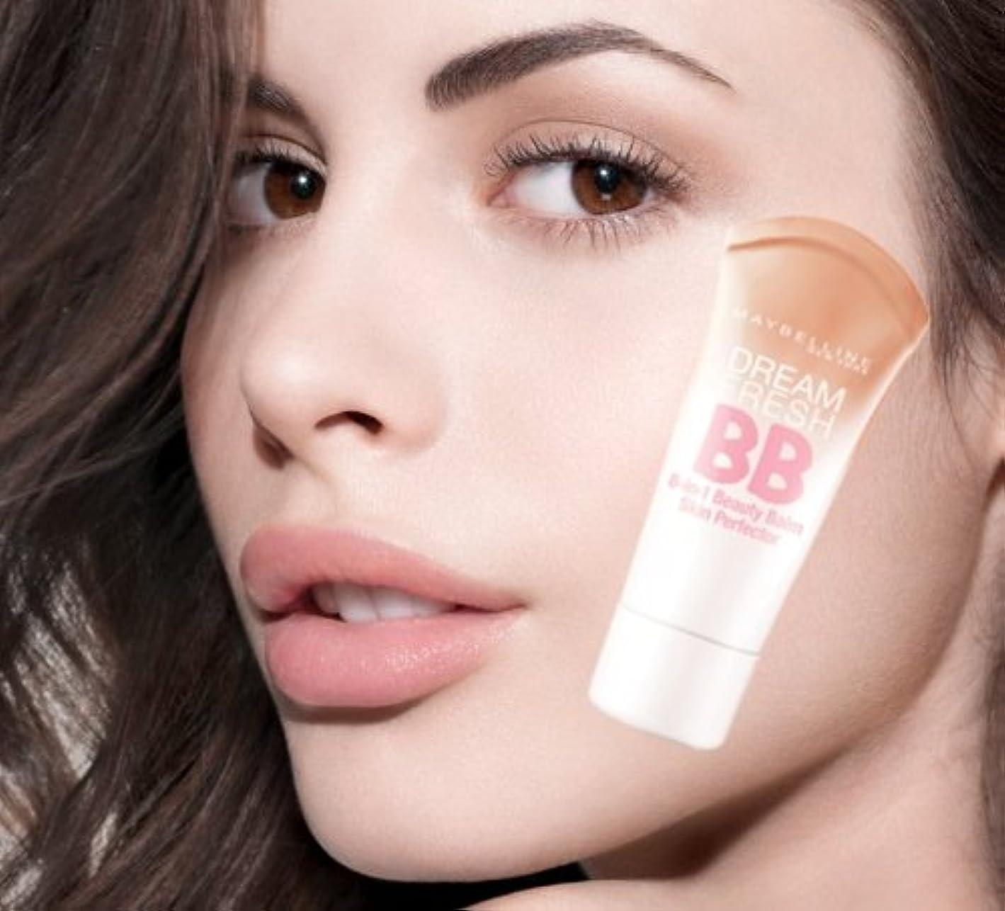 投獄操る急流メイベリン BBクリーム ミディアムカラー SPF 30*Maybelline Dream Fresh BB Cream 30ml【平行輸入品】