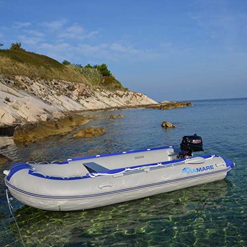 VIAMARE Unisex - Volwassenen opblaasbare boot 380 S Aluminium grijs