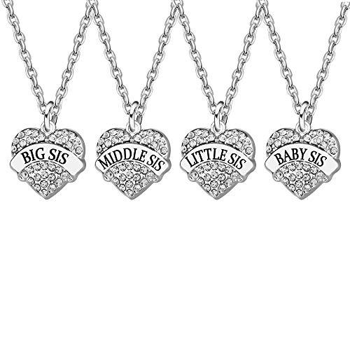 Collar con colgante para mujer y niña, diseño de Best Friend Family Jewelry