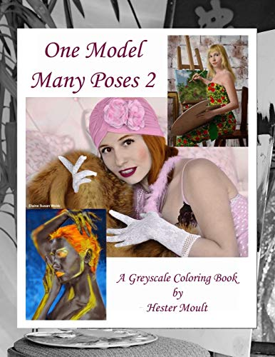 One Model Many Poses 2: A Greyscale Coloring Book