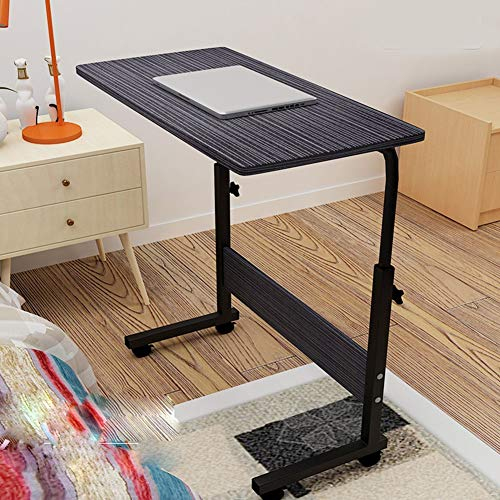 Laptop Bureau, Overbed tafel met vergrendelbare wielen, Side Table in hoogte verstelbaar bed Verwisselbare Bank, Super stevig en stabiel for thuiskantoor en Ziekenhuis (Color : A, Size : 80x50cm)