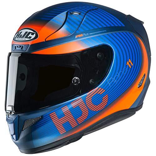 Casco de moto HJC RPHA 11 BINE MC27SF, Negro/Oroange, M