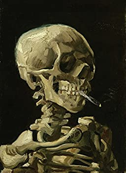 Palace Learning Vincent Van Gogh  Skull with Cigarette 1885  Art Poster Print - 18 x 24 Laminated - Van Gogh Skeleton
