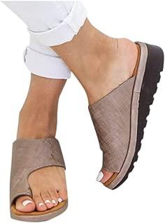 Colorful Sandals Gibobby Women's 2019 New Women Comfy Platform Sandal Shoes Summer Beach Travel Shoes Fashion Sandal