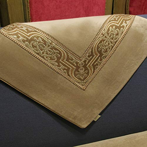 LH Diepe Beige Bank Kussen Europese Antislip Sofa Kussen Eenvoudige Stof Sofa Handdoek Vensterbank Mat Anti-slip Doek Cover