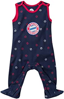 FC Bayern München Baby Strampler Fußball navy