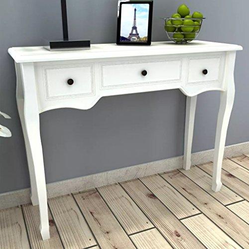 WEILANDEAL make-uptafel met drie witte laden placemats, afmetingen van de lade klein: 24,4 x 29 x 9,5 cm (l x b x h)
