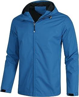 YOUTHUP Windjack voor heren, met capuchon, lichte outdoor winddichte waterdichte jas, casual regenjas