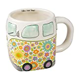 "THE PERFECT CUTE WHIMSICAL GIFT - Large, 3D, colorful ceramic mug is the perfect gift for all VW Bus lovers! MICROWAVE AND DISHWASHER SAFE - Hand sculpted, made with love and care so it the paint colors will not fade or wash away. ""FOLLOW YOUR HEART""..."