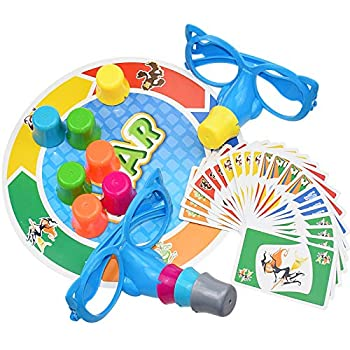 Family Fun Fibber Board Game Growing Nose Interesting Family Interactive Toys Funny Glasses and Cards Growing Nose Family Games Stretch The Truth