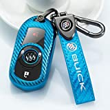 Soft TPU carbon fiber Key fob cover for Buick Verano Encore Envision Regal Lacross Enclave GL8 2015 2016 2017 2018 2 3 4 5 Buttons Key cover key case compatible smart remote control Key Holder.