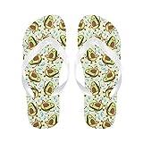 InterestPrint Men Flip Flop Slippers Cute Cartoon Avocado Pattern Beach Thong Sandal
