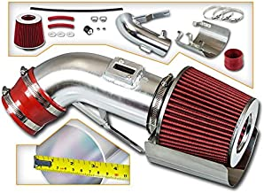 Rtunes Racing Short Ram Air Intake Kit + Filter Combo RED Compatible For 09-17 Nissan Maxima V6