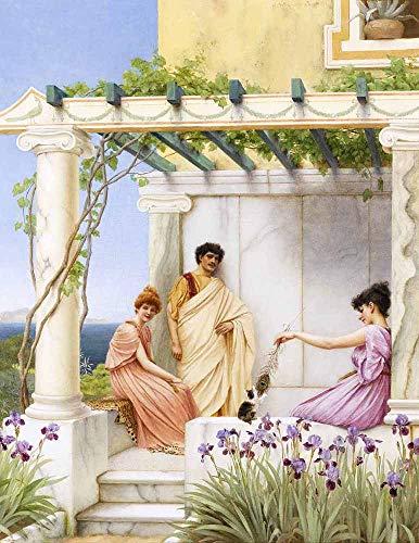 JH Lacrocon John William Godward - Pause Leinwandbilder Reproduktionen Gerollte 45X60 cm - Neoklassizist Gemälde Gedruckt Wandkunst