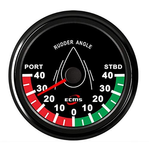 Yongenee Panel de Instrumentos garantizado ángulo del timón indicador de Nivel 0-190ohm con emparejar Sensor con luz de Fondo 85 mm 3-3/8 Pulgadas 12V / 24V for Motores, Barcos, automóviles modifica