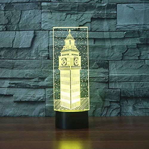 Big Ben 3d tafellamp geschenk acryl nachtlicht LED verlichting meubels decoratieve kleur 7 kleurverandering thuis woonaccessoires