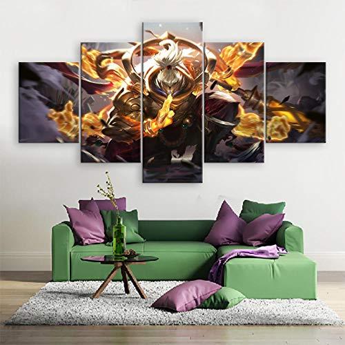 WARMBERL Peintures Sur Toile 5 Affiches De Jeu Imprimées Sur Toile, Images De Peinture Moderne, Art De Décoration Art Mural Alliance, Cuadros Prints on Canvas Framed