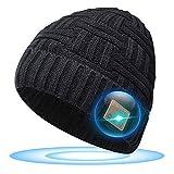 SOOFUN Regalos Originales para Hombre y Mujer Gorro Bluetooth - Bluetooth 5.0 Gorro Bluetooth, Gorro de Invierno con Auriculares Bluetooth Inalámbricos, Apto para Ciclismo, Trotar, Esquí (BZ-2)