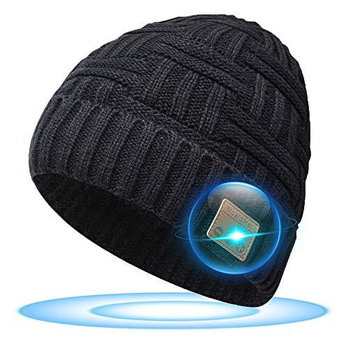 SOOFUN Bluetooth Mütze Adventskalender Männer Geschenke - Bluetooth 5.0 Kabellose Kopfhörer Bluetooth Mütze, Angeln/Ski/Radfahren, Personalisierte Geschenke für Papa/Mann/Freund