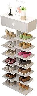 JJZXT Multi Function Shoe Rack étagère Store, 1 tiroir Chaussures étagères de Rangement autoportant étagère Organisateur