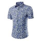 SSBZYES Chemises pour Hommes Chemises D'été à Manches Courtes pour Hommes De Grande Taille Chemises à Fleurs pour Hommes T-Shirts pour Hommes Chemises Décontractées à Manches Courtes pour Hommes