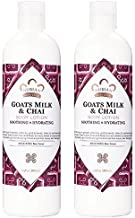 Nubian Heritage Goat's Milk & Chai Body Lotion (Pack of 2) with Shea Butter, Cocoa Seed Butter, Olive Oil, Aloe Vera Juice, Sweet Almond Oil, Jojoba Seed Oil and Goat Milk Extract, 13 oz