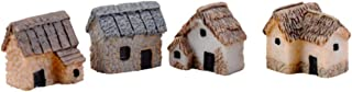 WINOMO 4 pcs Miniature Fairy Garden DIY Artificial Gardening for Micro Landscape Accessories Terrarium Crafts Yard Bonsai ...