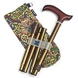 Blue Badge Co Gehstock, zusammenklappbar, leicht, robust, verstellbar, bronzefarben -