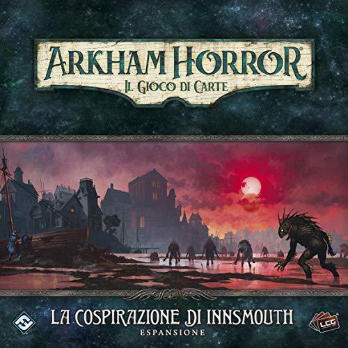 Asmodee - Arkham Horror, el Juego de Cartas: La Cospiración de Innsmouth – Expansión Juego de Cartas, edición en Italiano (9654)