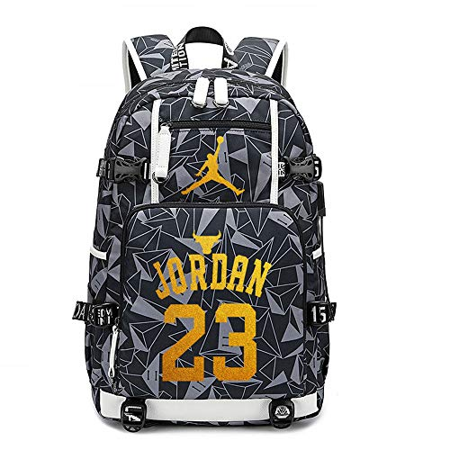 Children's Backpack Jordan#23 Fashion Children's Schoolbag Boys and Girls Large-Capacity Canvas Travel Bag Lunch Bag Children's Gifts
