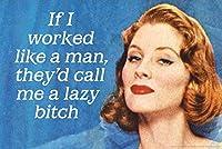 ERZAN大人のパズル1000私が男のように働いたら、彼らは私を怠惰な雌犬と呼んでいます減圧ジグソーおもちゃキッズギフト