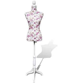 Vidaxl Buste De Couture Mannequin Femme Noir Et Blanc Buste Vitrines Boutique Amazon Fr Cuisine Maison