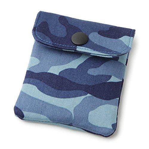 携帯灰皿 おしゃれ かわいい ミリタリー 迷彩 ブルー カモフラージュ アシュトレイ 匠の技 河島彰子作 インナーリフィル合計2個付属 日本製