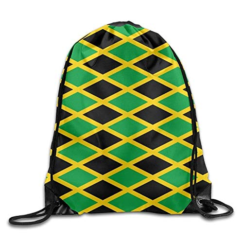 Etryrt Prämie Turnbeutel,Sporttaschen, Flag of Jamaica Drawstring Backpack Beam Mouth Gym Sack Rucksack Shoulder Bags for Men & Women