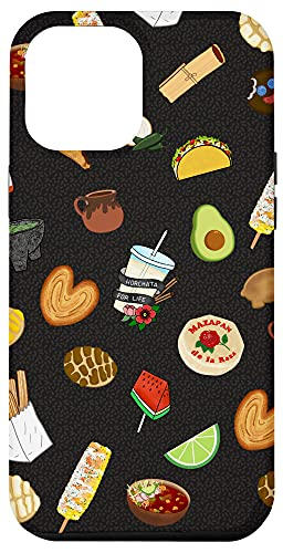 iPhone 12 Pro Max Black Antojitos Mexican Food Latino Tacos Pan Dulce Case