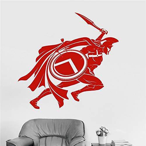 Espartano guerrero niño habitación pegatina mural arte decoración hogar decoración vinilo extraíble guardería niños habitación pared pegatina 58 * 60 cm