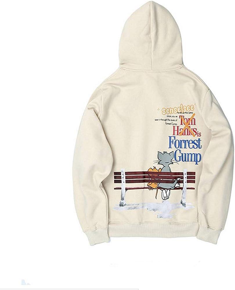DLYCMY Fashion Hoodie Sweatshirt Autumn and Winter Creative Design Sweater Coat Cotton Comfortable