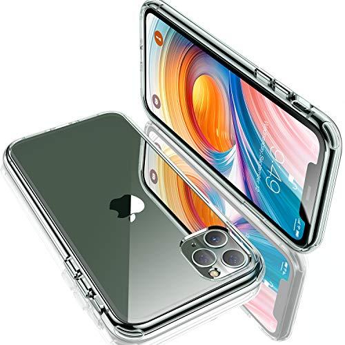 Humixx iPhone 11 Pro Max Hülle, HD Clear Handyhülle[Military Grade Drop Tested] PC Rückseite mit TPU Weiche Rahmen Hardcase, Anti-Fall Crystal Clear Schutzhülle für iPhone 11 Pro Max (6.5 Zoll)