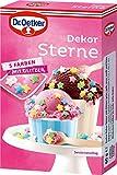 """Zuckerdekor/Streudekor""""DEKOR STERNE"""" (5 Farben / 60 g) MIT GLITZER -"""